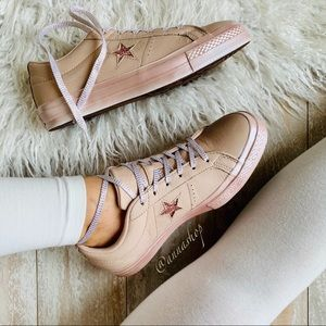NWT Converse ID Custom Leather low Tops